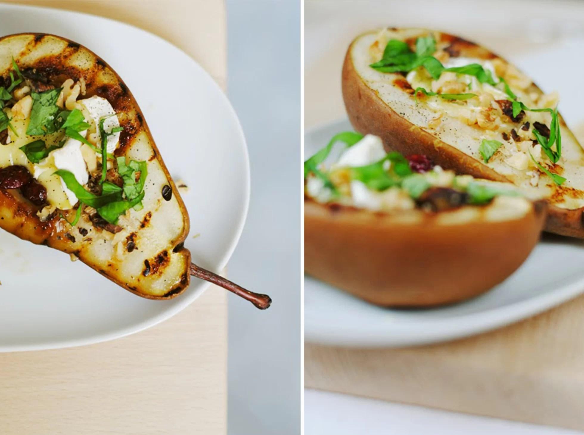 Grillowane gruszki z camembertem