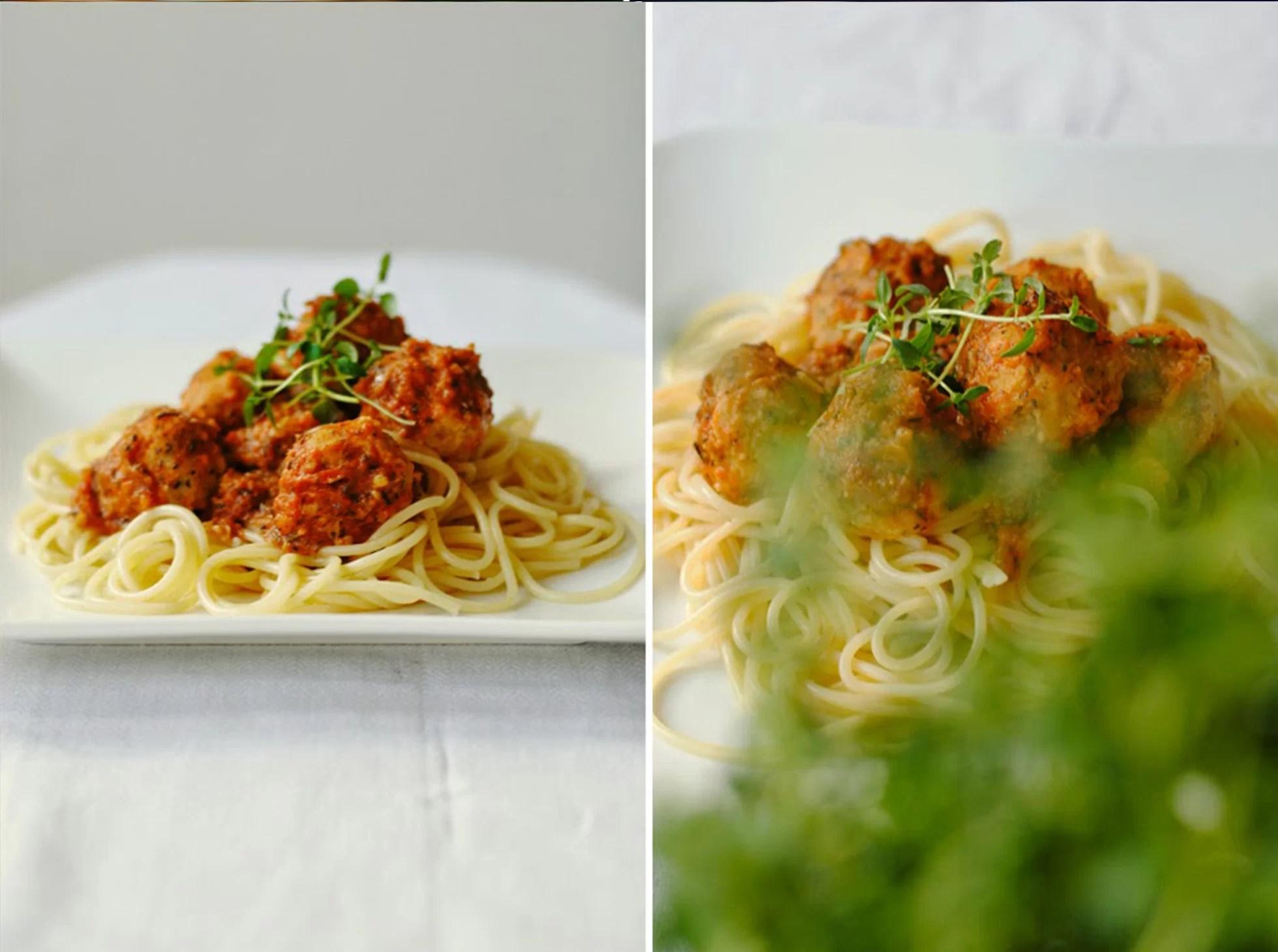 Spaghetti z pulpecikami z soczewicy