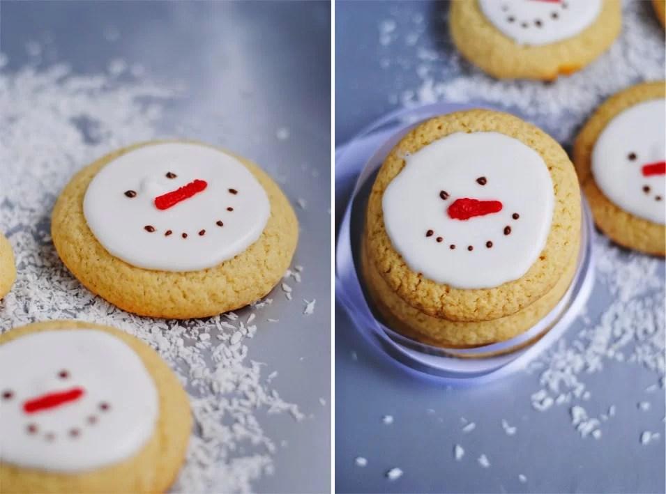 Bałwanki świąteczne ciasteczka