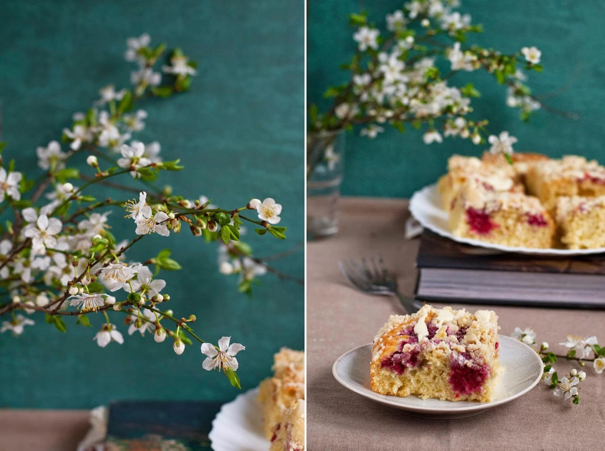 Ciasto na maślance z malinami