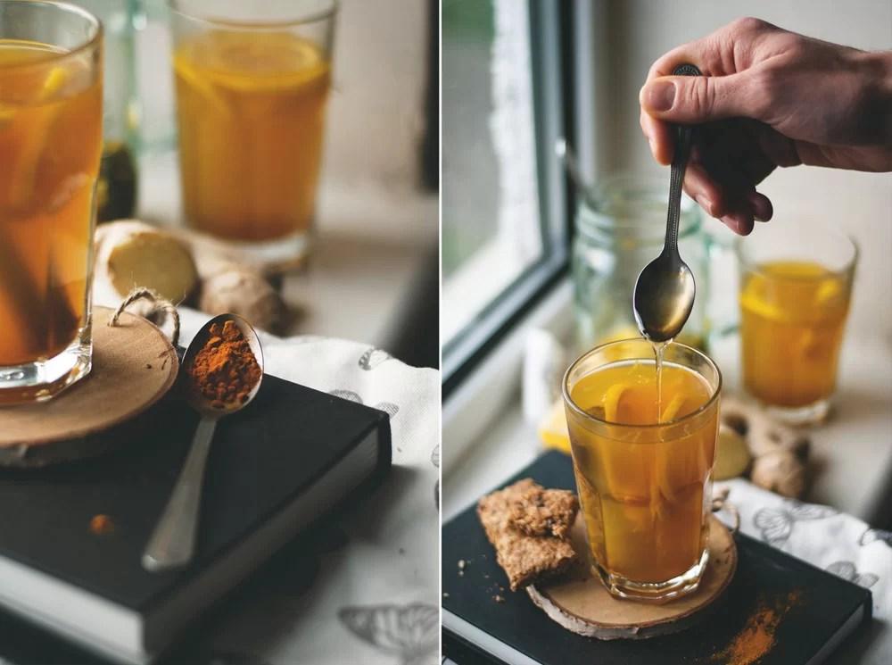 Herbata z kurkuma i imbirem na jesień