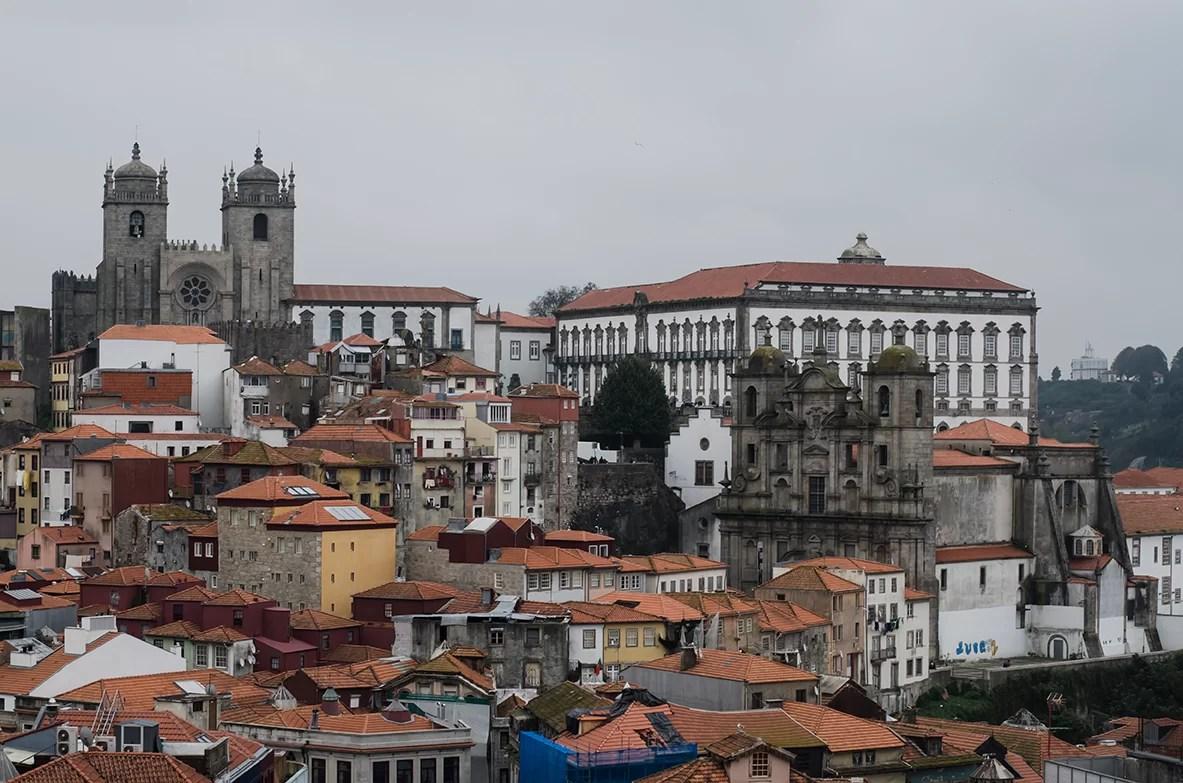 Porto widok na panorame miasta