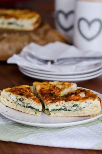 Quiche ze szpinakiem i camembertem