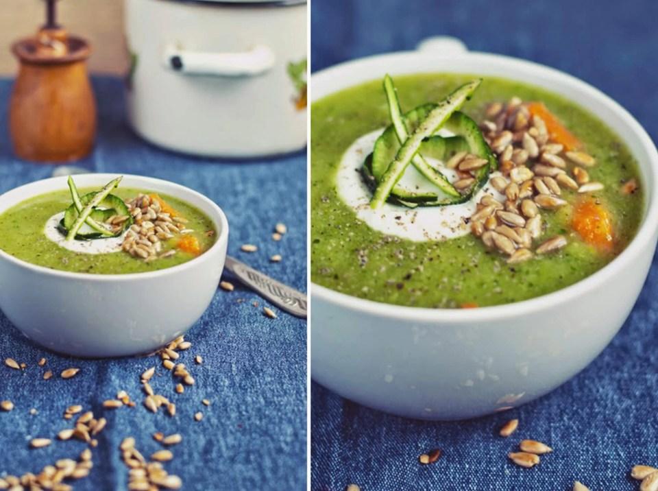 Szybki obiad zupa krem z cukinii i brokułów