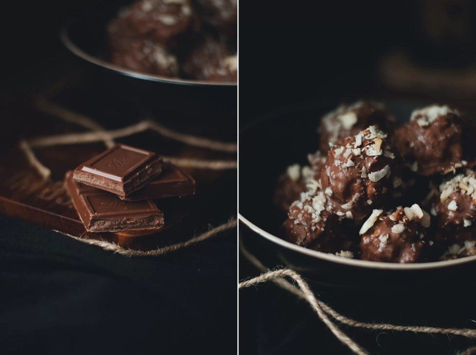 Owsiane ciasteczka z czekoladą bez pieczenia