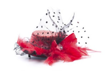 a pink fascinator hat for weddings