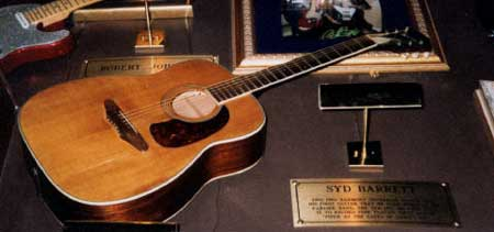 This guitar was used by Syd Barrett on Piper At The Gates Of Dawn and was also used to compose a lot of early songs.Pic was kindly taken and provided by Brian Mallard.