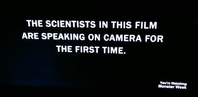 "Image with text ""The scientists in this film are speaking on camera for the first time"""