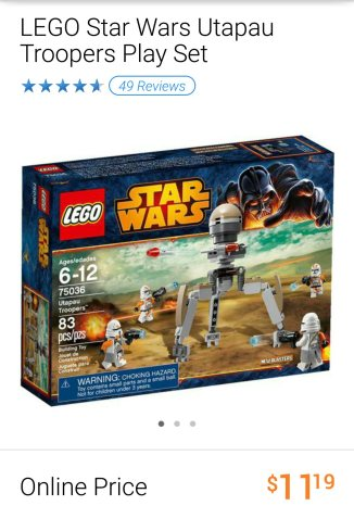 Lego Star Wars Utapau Troopers set