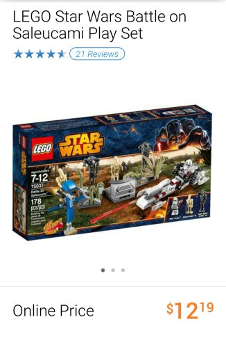 Lego Star Wars Battle on Saleucami set