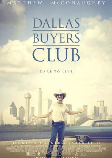 Image of the Dallas Buyers Club movie poster.