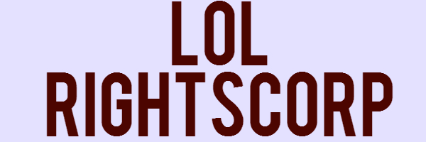 """Image with text """"lol, rightscorp"""""""