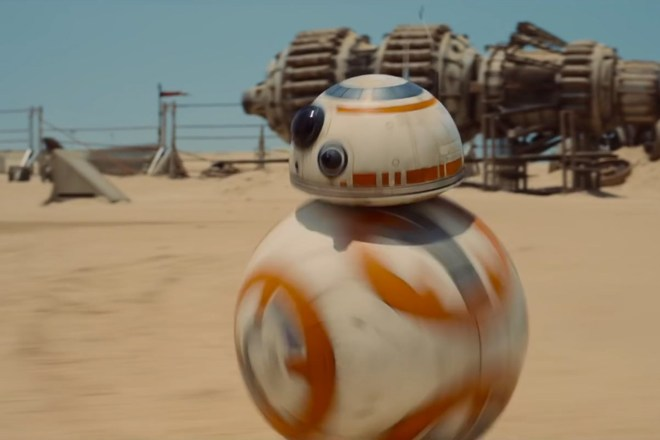 Image of BB-8 from the new Star Wars film The Force Awakens