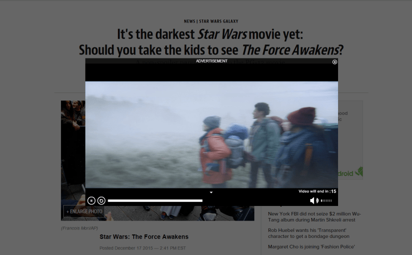 Star Wars: The Force Awakens – <em> Is it kid safe??? Who knows. </em>