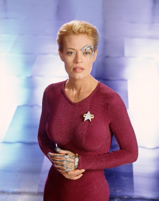 Image of Seven of Nine from Star Trek Voyager.