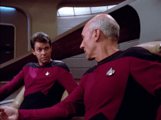Captain Picard and Riker in true, remastered, HD.