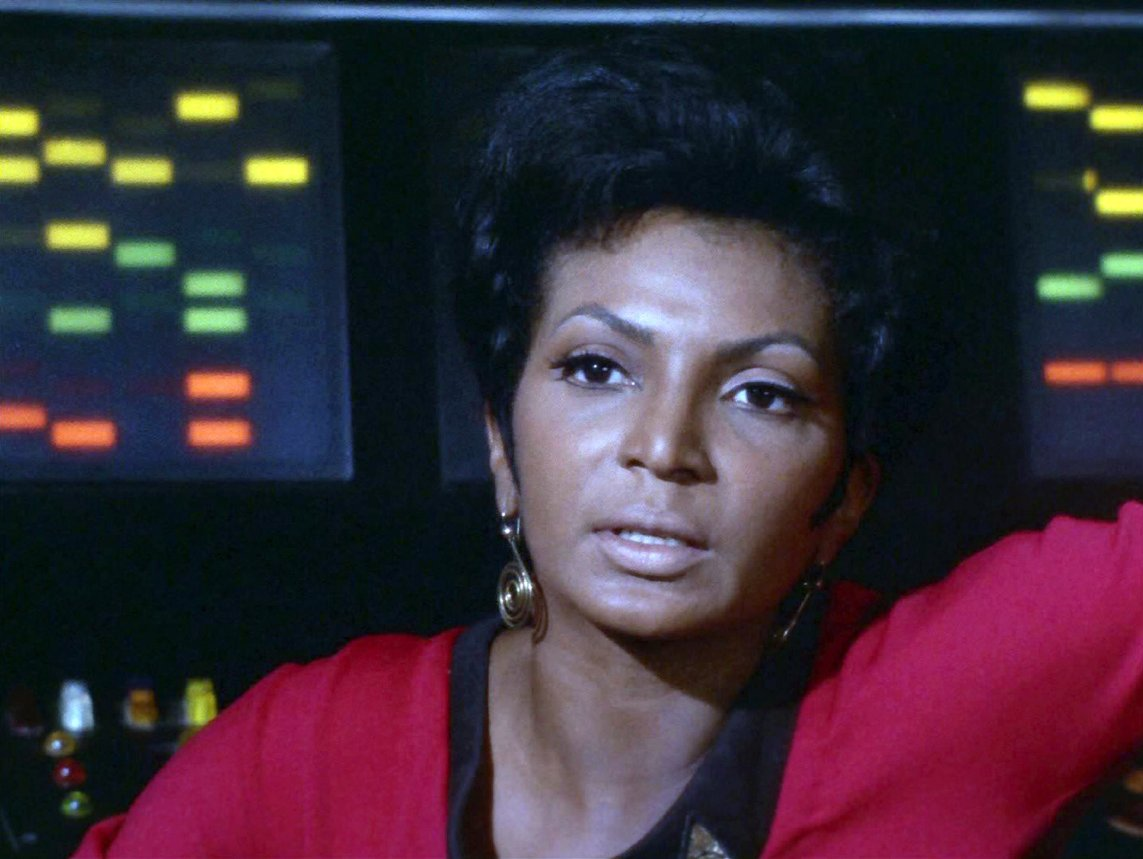 Image of Uhura from Star Trek The Original Series.
