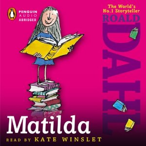 Image of the Matilda audiobook cover.