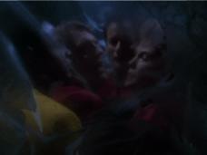 Q's comet prison (Star Trek Voyager, Death Wish, S2 E18)