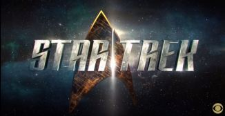 Image of New Star Trek insignia with text 'Star Trek'