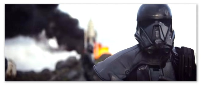 Image of a black storm trooper from Rogue One