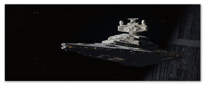 Image of a Star Destroyer from Rogue One