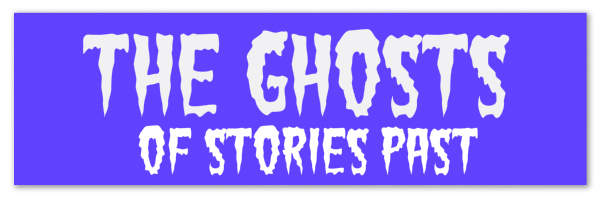 "Image of a purple banner with text ""the ghosts of stories past"""