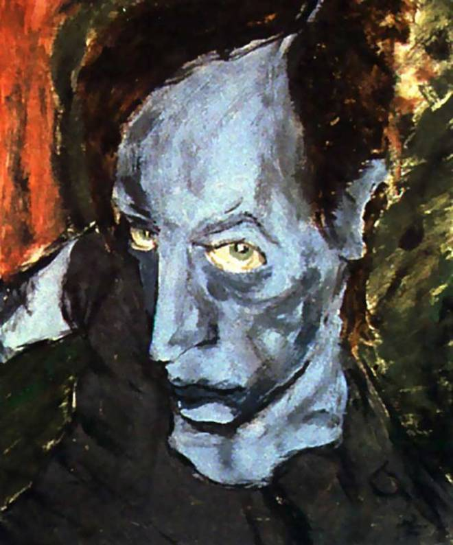 Image of a David Bowie painting titled Portrait of JO – 1976