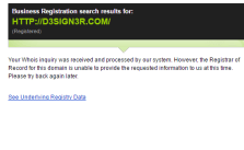 And um... apparently his personal website's registration can't be found...