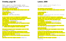 A screenshot of CNN's article comparing the text of Monica Crowley's PhD thesis with articles it seems she plagiarized from. Identical text is highlighted in yellow.
