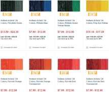 Color swatches for Holbein's 24 new colors.