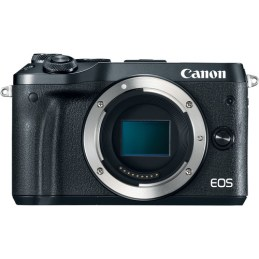The front of Canon's new EOS M6 mirrorless camera.