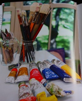 Winsor & Newton, Charvin, and Rembrant oil paint.