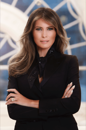 Melania Trump's new White House portrait. The original can be found at WhiteHouse.gov