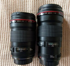 135mm f/2 next to 200mm f/2.8