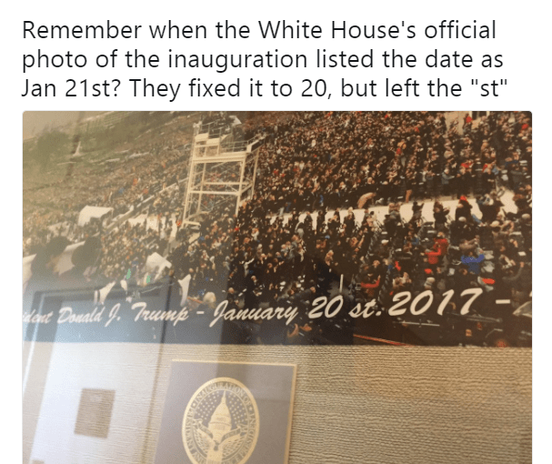 Update on Donald Trump's Inauguration Photo