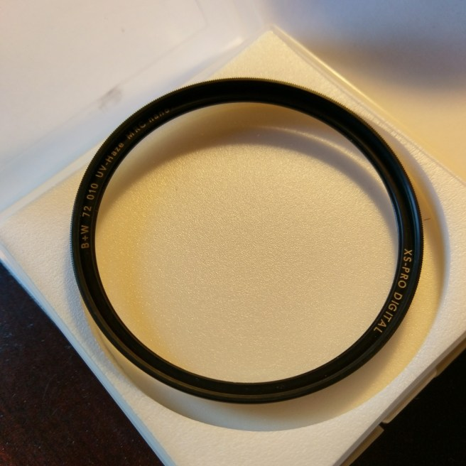 A real B+W XS-Pro 72mm 010 lens filter