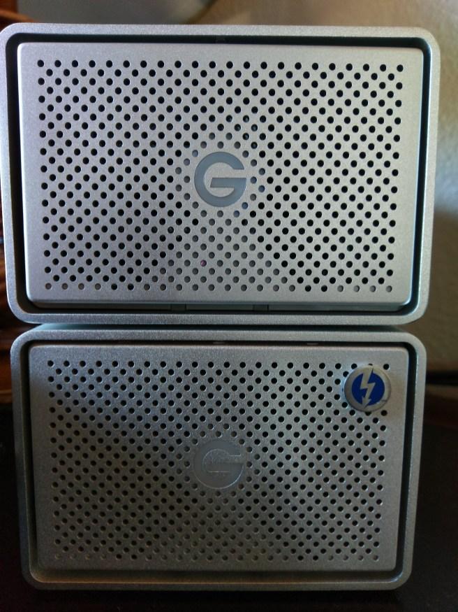 Two G-Raid 8TB USB 3.0 enclosures