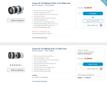 The Canon EF 70-200mm f/2.8L IS III USM Lens and the Canon EF 70-200mm f/4L IS USM Lens.