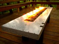 Fire Pit - Fire Table - Concrete and Glass - Propane Fired ...
