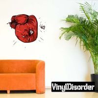 Boxing Glove Wall Decal - Vinyl Car Sticker - Uscolor002 ...