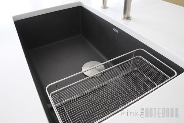 black sink kitchen grey rugs thinking about the blanco silgranit pink little notebookpink blancopreciscascade2 pln