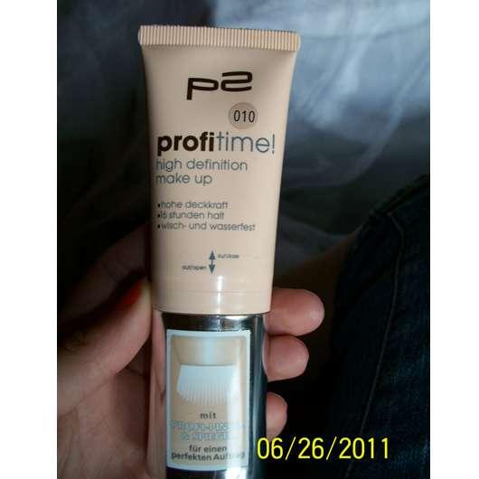 Test - Foundation - p2 profitime! high definition make up. Nuance: 010 – Testbericht von Sweety