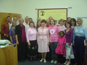 Pink Mennos at Community Mennonite Church 101109