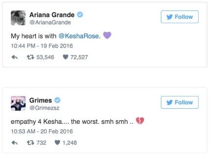 Kesha tweet