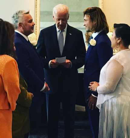 The Vice President officiates a wedding