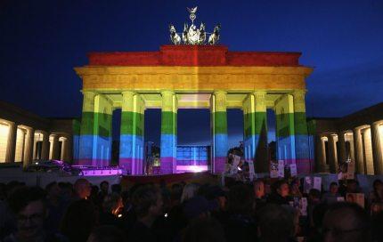 Brandenberg gate rainbow