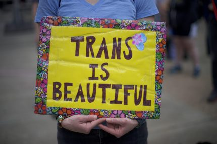 trans is beautiful sign
