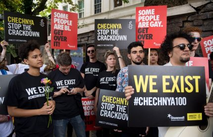 Chechnya protesters