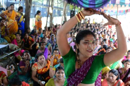 Indian transgender activists take part in a protest against the Trangenders Persons (Protection of Rights) Bill 2016 at Dharna Chowk in Hyderabad on August 26, 2016. The Trangenders Persons (Protection of Rights) Bill 2016, which was tabled in parliament in early August, is seen as draconian and repressive in nature by the protestors. / AFP / NOAH SEELAM (Photo credit should read NOAH SEELAM/AFP/Getty Images)